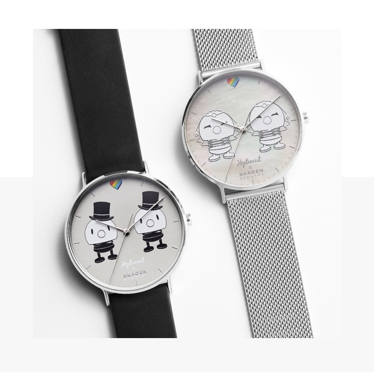 Image of brides and grooms watches.