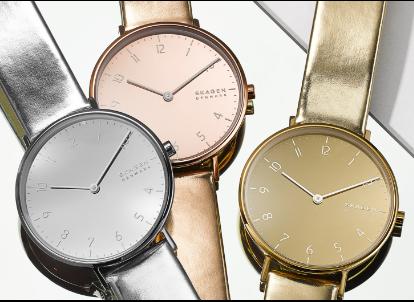 three aaren metallic watches