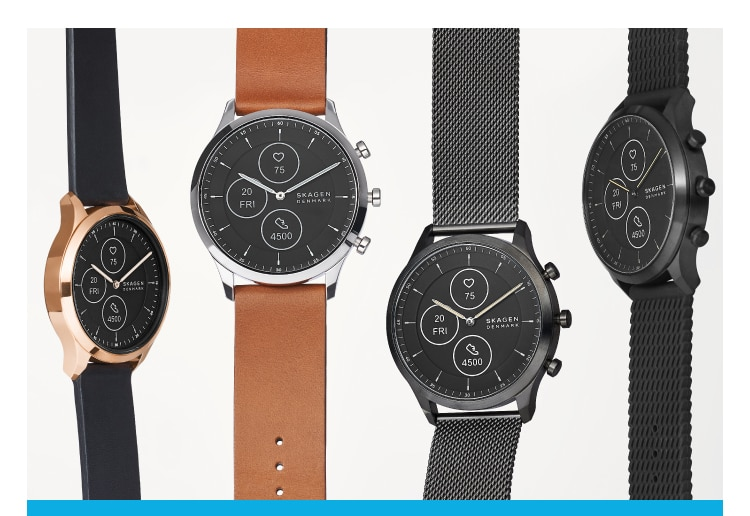 a collection of hybrid hr watches