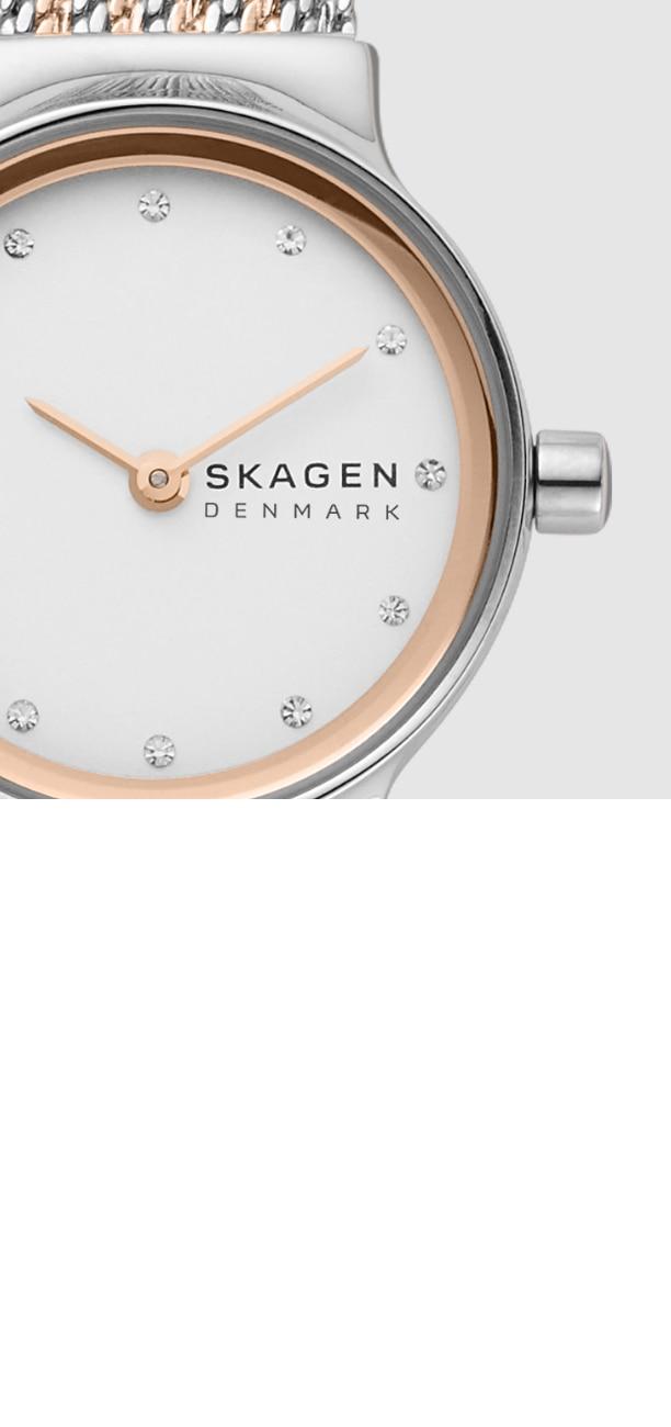 close up of a skagen freja watch