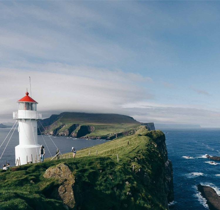 lighthouse and ocean view