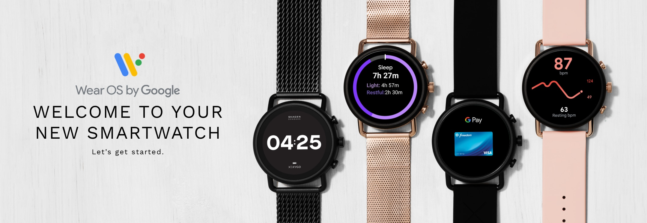 Learn how to set up your new smartwatch. Welcome to your new smartwatch. Let's get started.