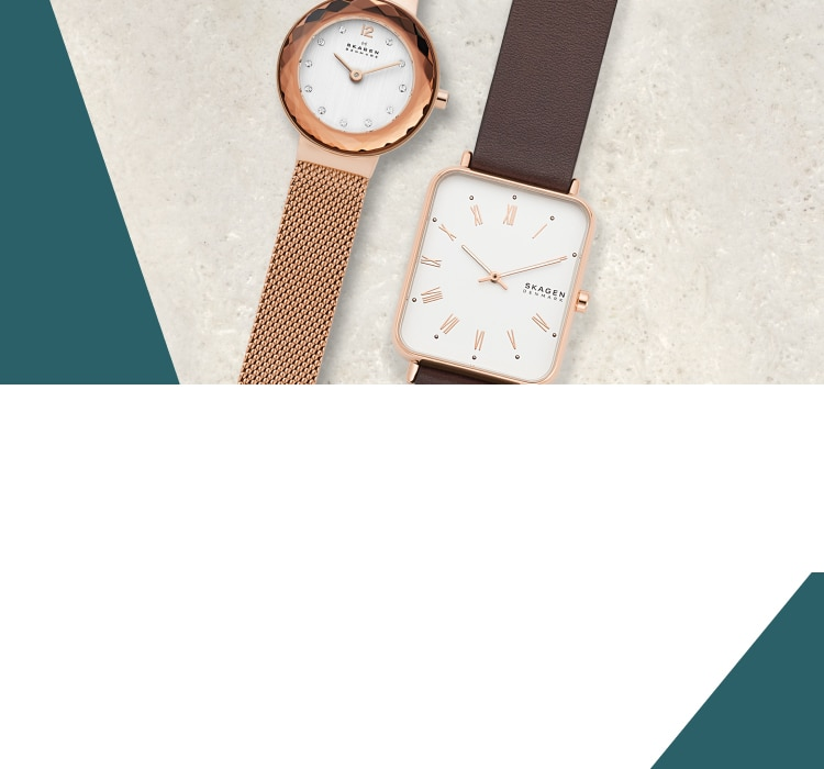 decorative background with two watches