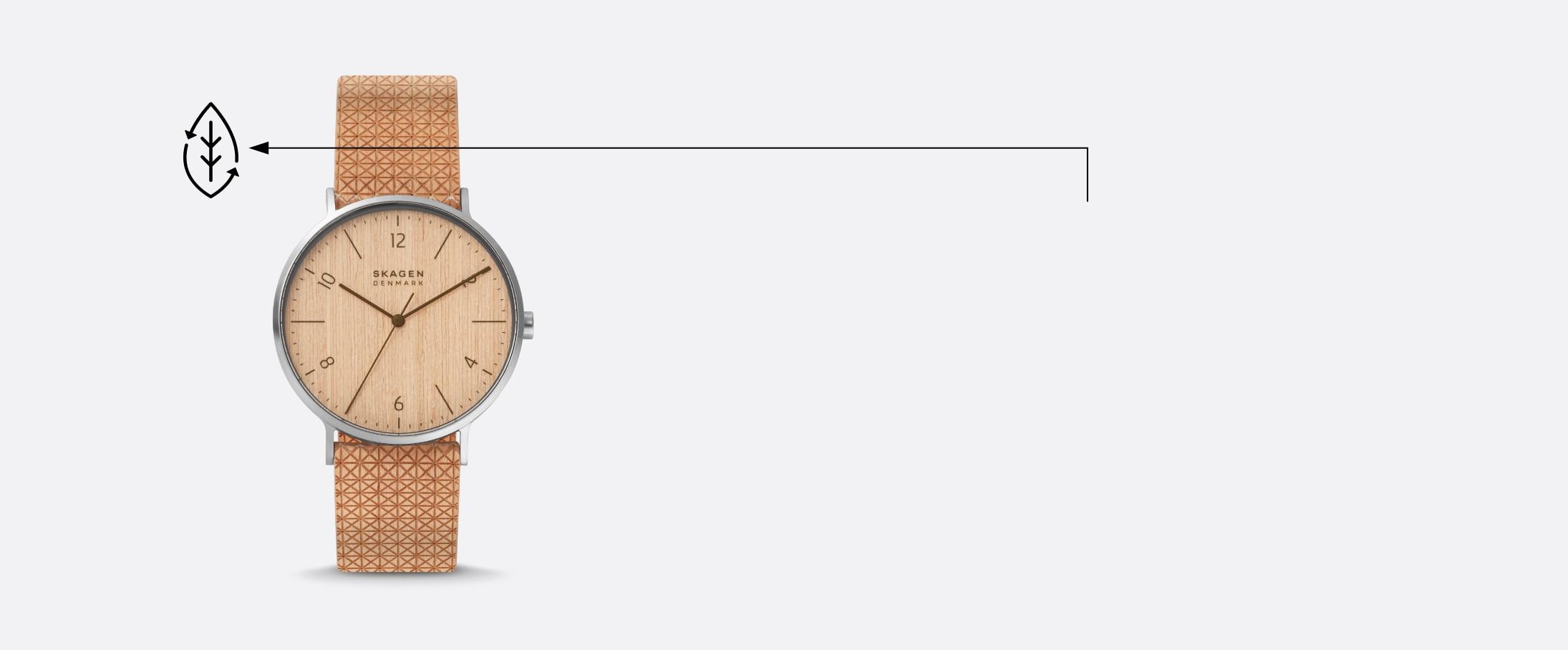 Image of Aaren Naturals wood veneer watch.