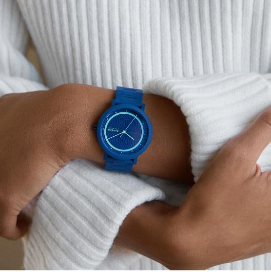 Image of blue Aaren Ocean watch.