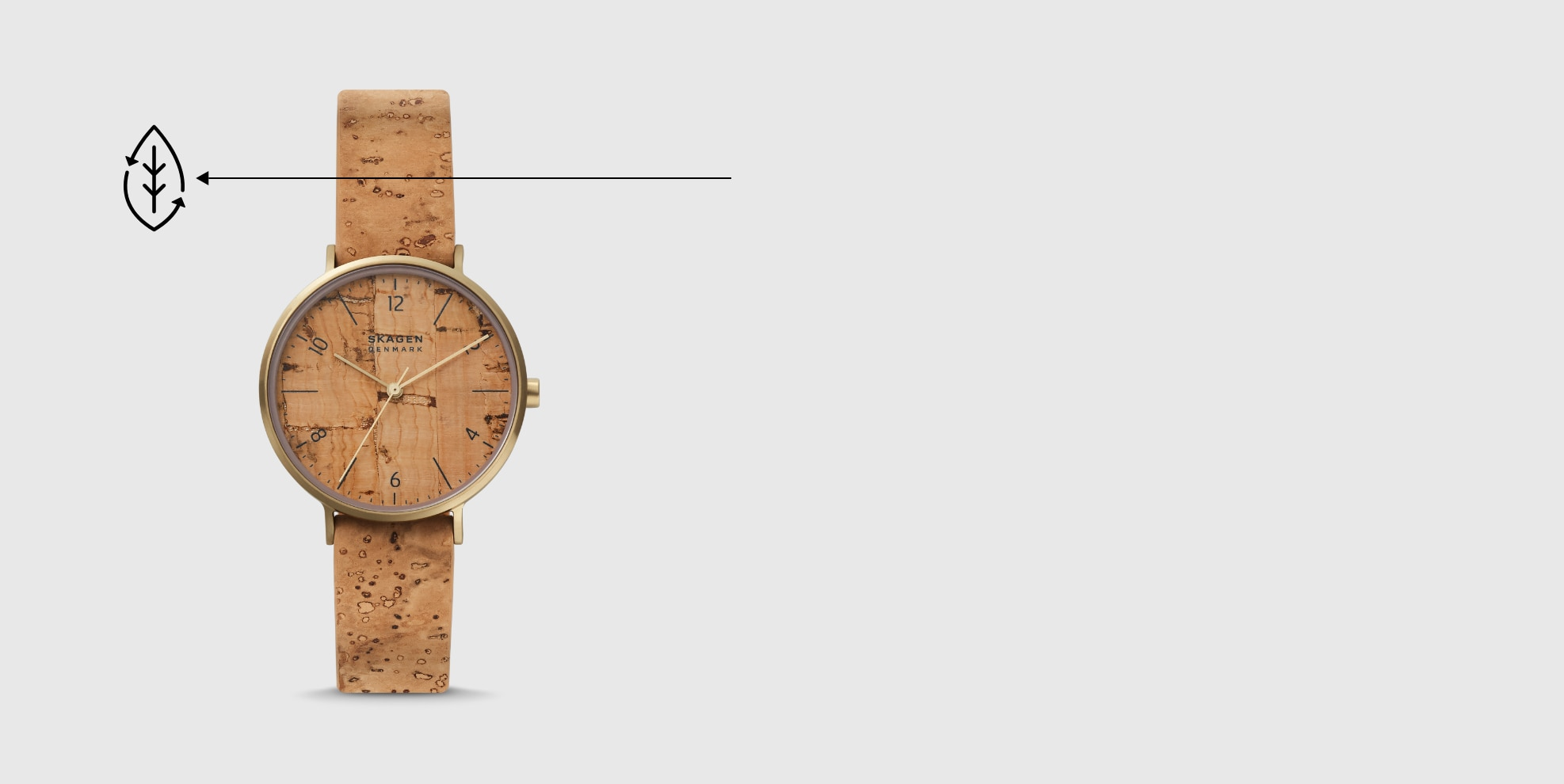 A planet-friendly watch made from cork.